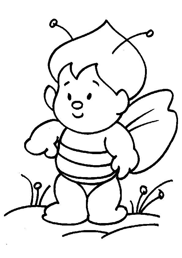Excepcional Bebé Abejorro Para Colorear Ornamento - Dibujos Para ...