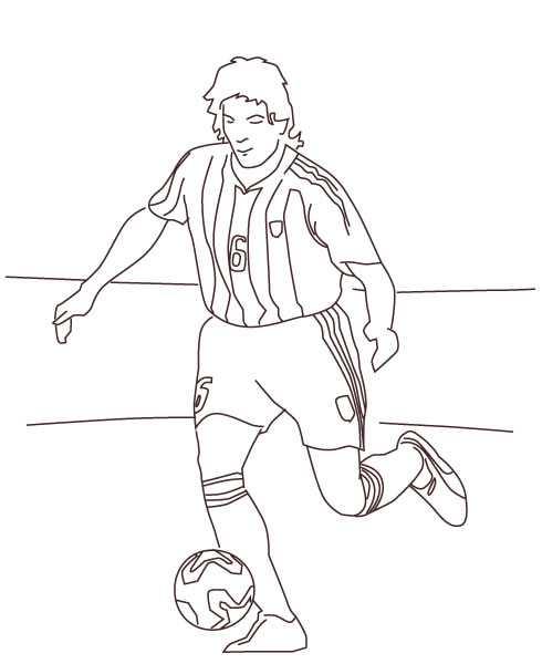Disegni di calcio da stampare e colorare - Immagini sportive da stampare ...