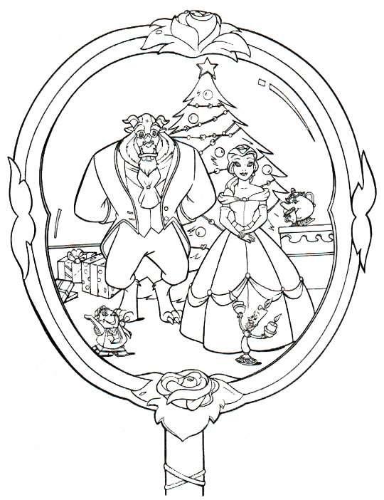 Excepcional Disney Princess Christmas Para Colorear Motivo - Páginas ...